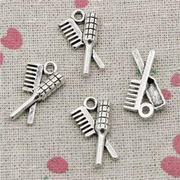 $enCountryForm.capitalKeyWord Australia - 250pcs Charms comb brush 20*12mm Pendant,Tibetan Silver Pendant,For DIY Necklace & Bracelets Jewelry Accessories