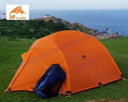 aluminum extending poles NZ - 3F Gear Sunsky-S4 4 seasons 3 person 2 layer Silicon coating camping tent with aluminium pole
