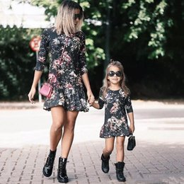 $enCountryForm.capitalKeyWord NZ - half sleeve mother daughter dresses flower mommy and me dress family matching clothes outfits look mom mum and baby girls dress