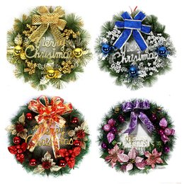 $enCountryForm.capitalKeyWord Australia - New Year Christmas Wreath With Bow Handcrafted Elegant Holiday Wreath For The Front Door Christmas Decoration Supplies