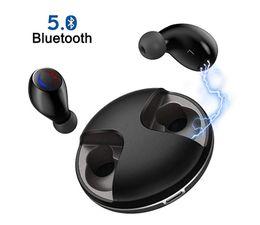 Ecouteurs KISDISK Bluetooth V5.0 sans fil, écouteurs IPX5, écouteurs antibruit, 20 h Playtime Casques micro intégrés avec port