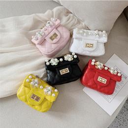 $enCountryForm.capitalKeyWord Australia - Baby Flower beads Bag Fashion Kids Shoulder Bag Little Girls Gifts Toddler Purse Handbag Children Mini Messenger Bag PU Leather LE327-u