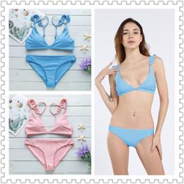 2019 Yeni stil bikini seksi bölünmüş mayo ile Avrupa ve Amerika'da lotus kenarı (pulsuz)