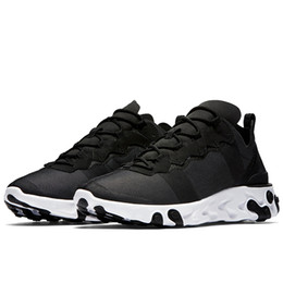 White Trainers For Woman UK - 2019 React Element 55 Men Running Shoes For Women Designer Sneakers Sports Mens Trainer Shoes Black White