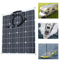 Solar panel wattS online shopping - 50W Watt V Extremely Flexible Monocrystalline Solar Panel Charge Battery Clips for Boat Car Power Supply USB