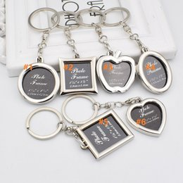 6styles Photo Frame Round Heart Apple Oval Rhombus Shape Metal Alloy Keychain  Key Chain Keyring Car Keychains Couples Keyring Gift 14f5e26a4e45
