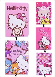 White Rose Pattern Australia - Pink Soft TPU Folio Stand Smart Cover Case For Apple iPad mini 2 3 4 Cute Pink KT cat Pattern Girls