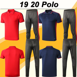 polo red white blue Australia - 19 20 Bayern ROBBEN JAMES Polo Shirt New LEWANDOWSKI MULLER THIAGO Red sapphire Black Polo MULLER Short Sleeve Football Jerseys Pants Top