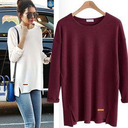 326dd5f1649 Vegan Korean Fashion Tunic Split T Shirt Women 5XL Plus Size Vintage Oversized  Tshirt Womens Black Yellow Tops Tee Shirt Femme