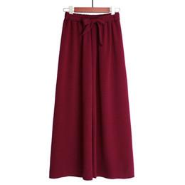 $enCountryForm.capitalKeyWord UK - Office Lady Style Women Long Pants Elasticity Waist Slim Lace Bow Wide Leg Pants Casual Girls Octal