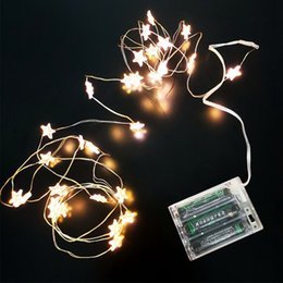 Discount led battery christmas light ornament - 40 Star Led Light String Battery Fairy Light For Party Outdoor String Lights Indoor Wedding Xmas Decoration Wire Lights