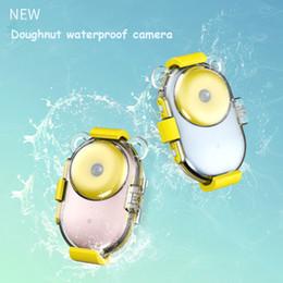 Best Dv Camera Australia - Newest 8.0MP Kids HD Digital Camera 2.0Inch LCD Front and back Double Lens Doughnut Mini Waterproof Camera best DV gift