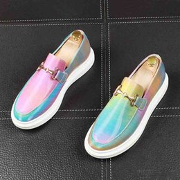 $enCountryForm.capitalKeyWord Australia - New designer Men glitter dazzling colors High tops Causal Loafers flat platform prom shoes ankle boot Moccasins rock zapatos de novio