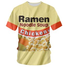 2d51fbc6e New Fashion Womens Mens Ramen Noodle Soup 3D Print funny Casual T-Shirt GT10