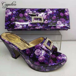 $enCountryForm.capitalKeyWord Australia - Designer New African Sandal Purple Color Shoes And Matching Bag Set Summer Style High Heel Shoes And Bags Set For Party Dress Bl135c