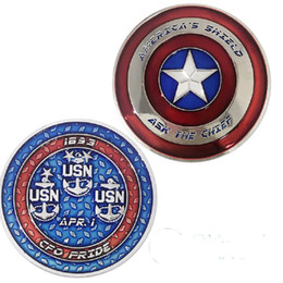 $enCountryForm.capitalKeyWord Australia - GLSY Hot Selling New Arrival Captain America Shield Character Collectible Challenge Coin Silver Plated Navy US Coin collectibles Gift