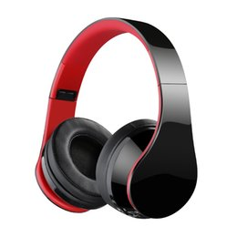 wireless head microphones NZ - Pop2019 Head Wearing Type Red Csr4.1 Wireless Bluetooth Microphone Originality Game Foldable Headset