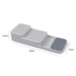 green box containers NZ - New Kitchen Drawer Organizer Tray Spoon Cutlery and Cutter Separation Finishing Storage Box Cutlery Kitchen Storage Container