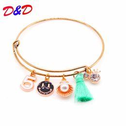 Disc Bracelet Australia - 2018 New Alex Charm Bracelet & Bangles Summer Style Setting Crystal Disc Love Bangles For Women Gift Jewelry
