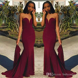 Sexy Black Women Bridesmaid Dress Australia - Hot Sell Burgundy Prom Evening Dresses Sheath Sweetheart Women Occasion Dress Black Girls Bridesmaids Gowns
