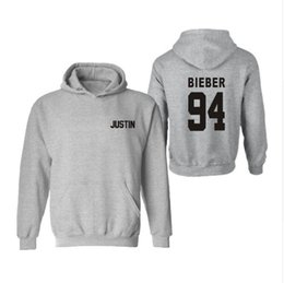 Wholesale rock music sweatshirts online – oversize Justin Bieber Hoody Mens Boy Hoodies Rock Print Cotton Streetwear Pullovers Clothing Funny Music Fleece Sweatshirts