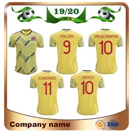 58218539c Colombia home soCCer jersey online shopping - 2019 Copa America Colombia  Soccer Jerseys Home JAMES FALCAO