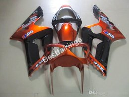 Zx6r Black Orange Australia - Injection molding fairing kit for Kawasaki Ninja 636 ZX6R 03 04 burnt orange black bodywork fairings kits ZX6R 2003 2004 MT18
