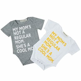 hip hop clothing babies 2019 - Newborn Design Jumpsuit Baby Hip Hop Clothes Short Sleeve English Characters Wrap Butt Thin Romper 61