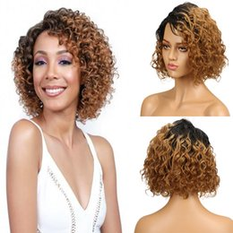 $enCountryForm.capitalKeyWord Australia - Ombre Human Hair Wigs Kinky Curly Short Bob Lace Wigs #1B 27 Remy 13x4 Front Lace Wigs 130% Desnity Glueless Full Lace wig