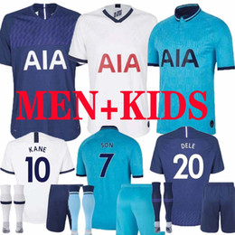 spurs shirt Australia - 19 20 KANE SON Spurs soccer jerseys LUCAS DELE ERIKSEN NDOMBELE 2019 2020 TOTTENHAM training Third football kits shirt Men Women Kids set