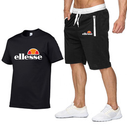 China Designer Summer Shirt + Shorts Mens Tracksuit Men Stall Collar V-Neck Short Sleeves Pullover With Casual Jogger Pants Suits Homme Sportsuit supplier black short sleeve skirt suit suppliers
