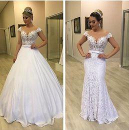 $enCountryForm.capitalKeyWord Australia - 2019 Arabic middle east Mermaid Wedding Dresses With Detachable Skirt off the shoulder gorgeous Vestido de novia customized Bridal Gowns