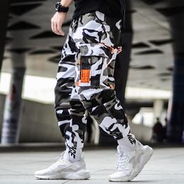 Camouflage Cotton Australia - Cargo Camouflage Pants Hip Hop Black Pants Mens Cargo Harem Pant Streetwear Harajuku Jogger Sweatpant Cotton Trouser T5190617