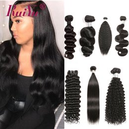 indian virgin remy hair weave Australia - 8A Mink Brazilian Peruvian Malaysian Indian Virgin Human Hair Weaves 3 4 Bundles Body Wave Loose Deep Kinky Curly Straight Remy Hair Wefts