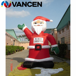 Santa Inflatable Australia - 4mH inflatable christmas decoration cute father christmas for advertising wholesale price inflatable santa claus for sale