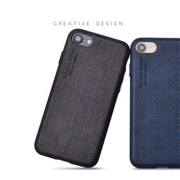 Simple Pc Cases UK - Shockproof fiber design is simple, multi-point TPU+PC leather case cell phone cover for iPhone X XS Max Xr 7 8 + samsung Note 8 S8 9 +