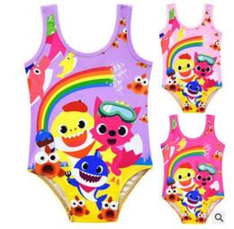 cb0e1d7c9ce05 Girls Cartoon Sleeveless One-Pieces 2019 Summer Toddler Infant Kids Baby  Girl Rainbow Swimwear One-piece Swimsuit Bathing Suit Beachwear