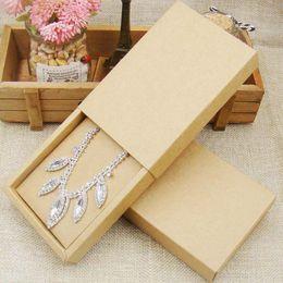 $enCountryForm.capitalKeyWord Australia - 48pcs 4.5*3.15*1.0inch kraft paper jewelry display box custom logo printed necklace pendant box earring package cardboard box