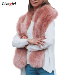 $enCountryForm.capitalKeyWord Australia - 2017 New Design Faux Fur Collar Women Winter Faux Fox Fur Cape Scarf Nice Accessories For Ladies Autumn Long Wrap Stole Scarves