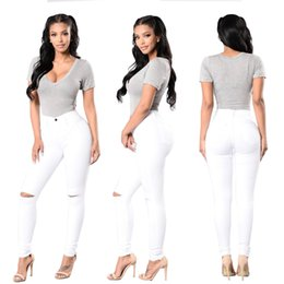 Scratch Resistant Coating Australia - Wholesale Women White jeans High Strength Water washed skinny jeans Ladies fashion New Style Leisure Bottom Jeans 168-1#