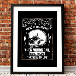 $enCountryForm.capitalKeyWord Australia - Rock Music Graphic Design Poster Prints Skull Illustration Cool Art Canvas Painting Picture Musician Gift Home Wall Art Decor