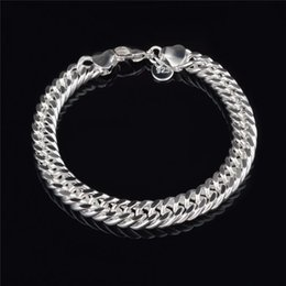 Sterling Silver Figaro Bracelet NZ - 2015 New Design 6MM 8MM 10MM 925 Sterling silver Figaro chain bracelet Fashion Men's Jewelry Top quality K6090