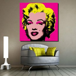 $enCountryForm.capitalKeyWord Australia - 1 Piece Marilyn Monroe Andy Pop Art Figure Living Room Modern Wall Art Painting Picture Home Decor Canvas Print No Frame