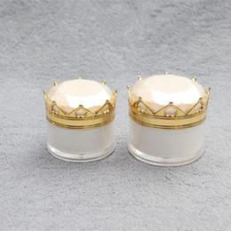 Acrylic Eye Cream Jar Australia - 5g 10g 15g 20g Crown Jar Empty Cosmetic Eye Cream Lip Oil Acrylic Bottle Refillable Lotion sample pack Containers