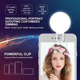 Chinese  Universal Selfie LED Flash Light RK17 LED fill light 9 pcs Premium Bulbs For Phone For iPhone X 8 7 Samsung S9 S8 S7 hot sale manufacturers