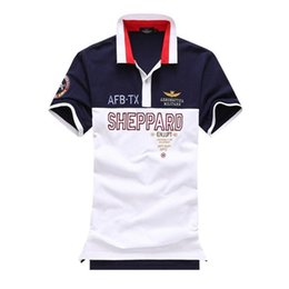$enCountryForm.capitalKeyWord NZ - Mens Summer Polo Shirt 2018 Breathable Air Force One Polo Embroidery Lapel Polo Shirt Fashion Man Aeronautica Militare Polos