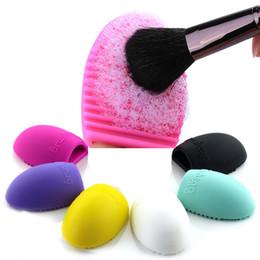 Make Up Egg UK - Makeup Brushes Cleaning Egg Shape Pad Silicone Finger Glove Washing Board Make Up Brush Cleaner Scrubber Silica Gel Tool