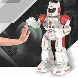 remote control dance UK - 2018 Hot Programmable Defender Intelligent RC Remote Control High Tech Toy Dancing Robot for Kids Birthday Gift Present