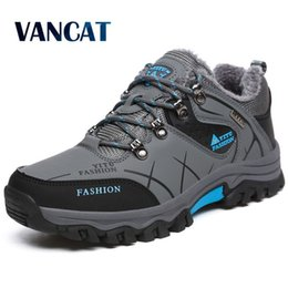 warm waterproof winter sneakers NZ - Brand Men Winter Snow Boots Warm Super Men High Quality Waterproof Leather Sneakers Outdoor Male Hiking Boots Work Shoes 39-47 LY191217