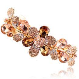 $enCountryForm.capitalKeyWord Australia - Luxury Crystal Flower Rhinestone Hair Clip Barrette Hairpin Headwear Accessories Jewelry For Woman Girls Wedding 12pcs Free Ship